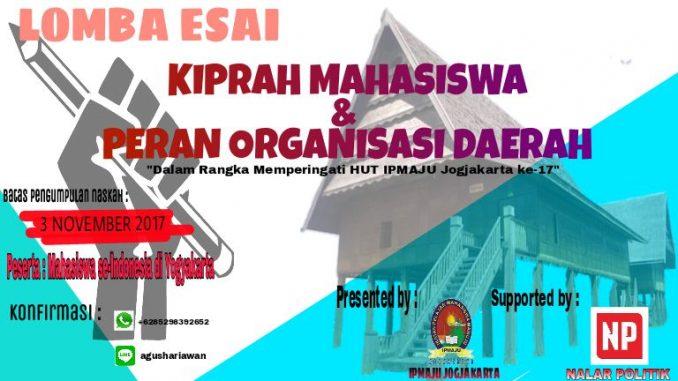 Lomba Esai: Kiprah Mahasiswa dan Peran Organisasi Daerah