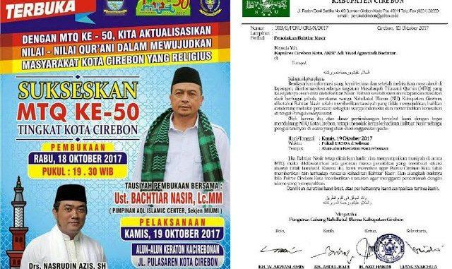 NU Cirebon Tolak Kehadiran Bachtiar Nasir di MTQ
