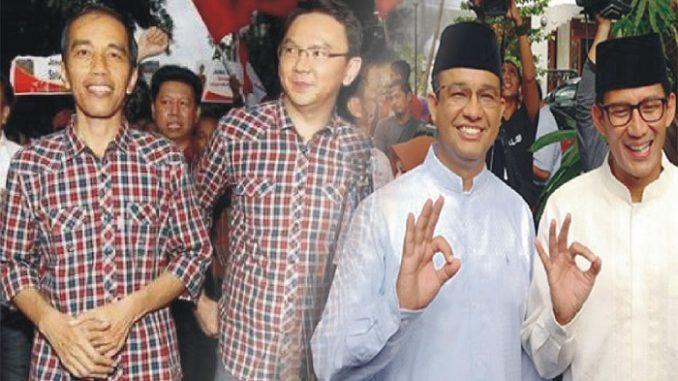 Beda Pemilih Ahok-Jokowi dan Anies-Sandi