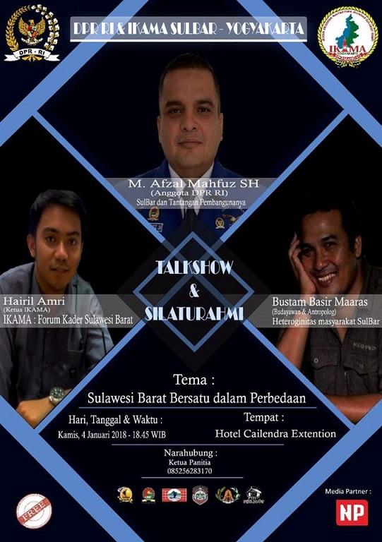 Talkshow & Silaturahmi DPR RI - Ikama Sulbar Yogyakarta