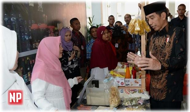 Kembangkan Ekonomi Rakyat, Jokowi Silaturahmi ke Bank Wakaf Mikro