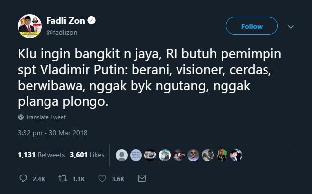 Plonga-plongo, Fadli Zon, dan Kerapuhan Partai Gerindra2
