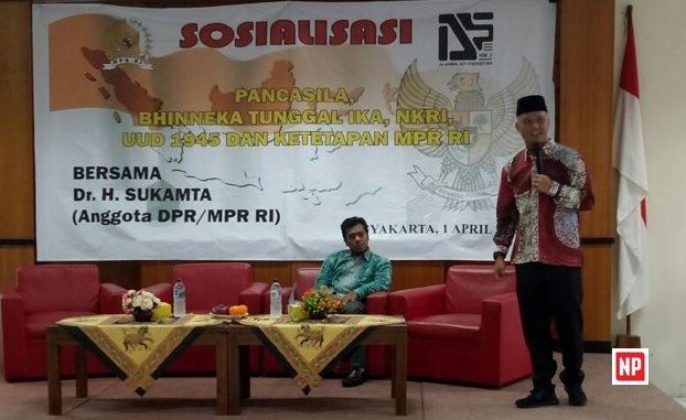 Bersama Anggota DPR/MPR RI, HMJ Hukum UIN Jogja Turut Perkuat 4 Pilar Kebangsaan