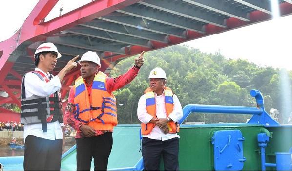 Pantau Pembangunan di Papua, Jokowi Ingatkan Sila ke-5
