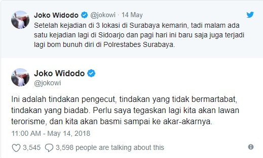 Teror Mengganas, Ketegasan Jokowi Menggila, Netizen pun Kian Geram
