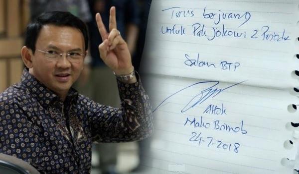 Ahok: Terus Berjuang untuk Jokowi 2 Periode