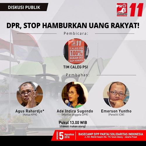 Ajang Bersih-Bersih DPR