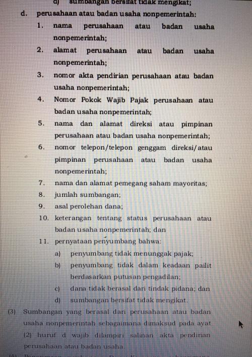 Persyaratan KPU