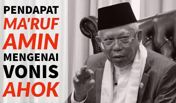 Ma'ruf Amin Menyesal Terlibat Memenjarakan Ahok