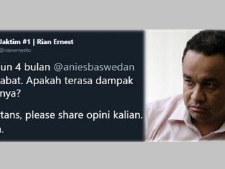 Jakartans Kecewa, Kepemimpinan Anies Baswedan Tak Sesuai Harapan
