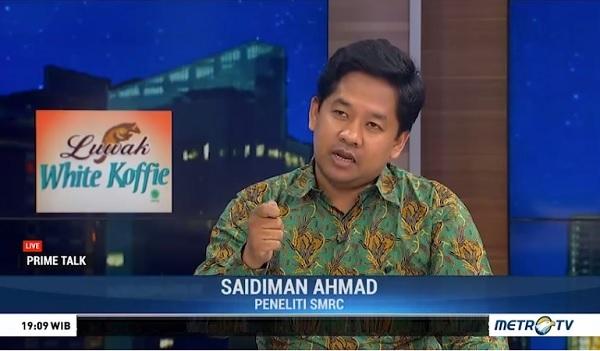 BPN Ancam Tuntut SMRC, Saidiman Ahmad: Tidak Apa-Apa