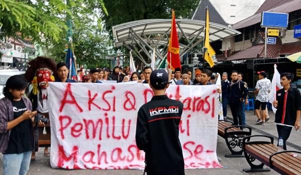 Aksi dan Deklarasi Pemilu Damai IKPMDI Yogyakarta