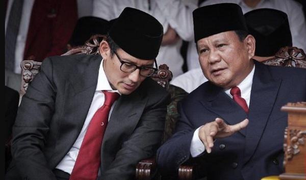 Bagi-Bagi Kursi Kabinet ala Prabowo-Sandi