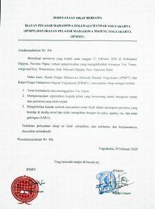 Pernyataan Sikap Bersama Mahasiswa Sulbar di Yogyakarta atas kasus pengeroyokan Yus Yunus