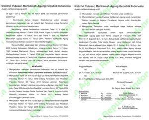 Putusan MA tentang Iuran BPJS