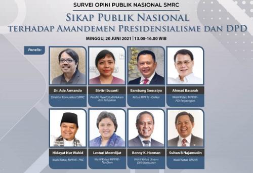 Sikap Publik Nasional terhadap Amandemen Presidensialisme dan DPD