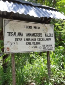 Lokasi Makam Tosalama Annangguru Malolo